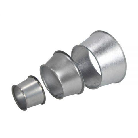 Cinkuoto metalo įvairaus diametro perėjimai Schmelzer