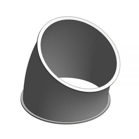 Cinkuoto metalo 30 laipsnių segmentas