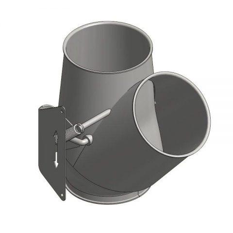 Cinkuoto metalo srauto skirstytuvas 1x45