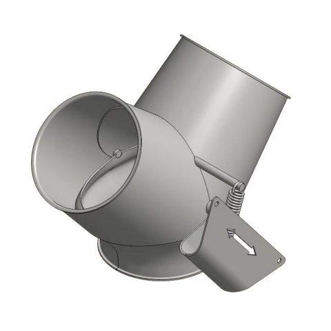 Cinkuoto metalo srauto skirstytuvas 2x45