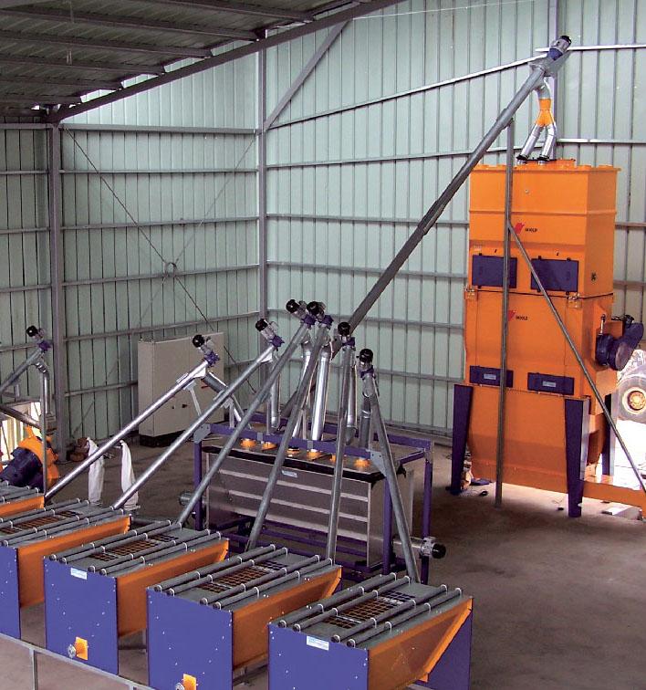 Modulinės maišymo konstrukcijos horizontalus maišytuvas