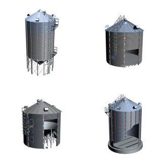 Grūdų bokštai ir saugyklos