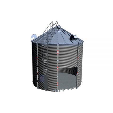 Sandėliavimo bokštas plokščiu dugnu