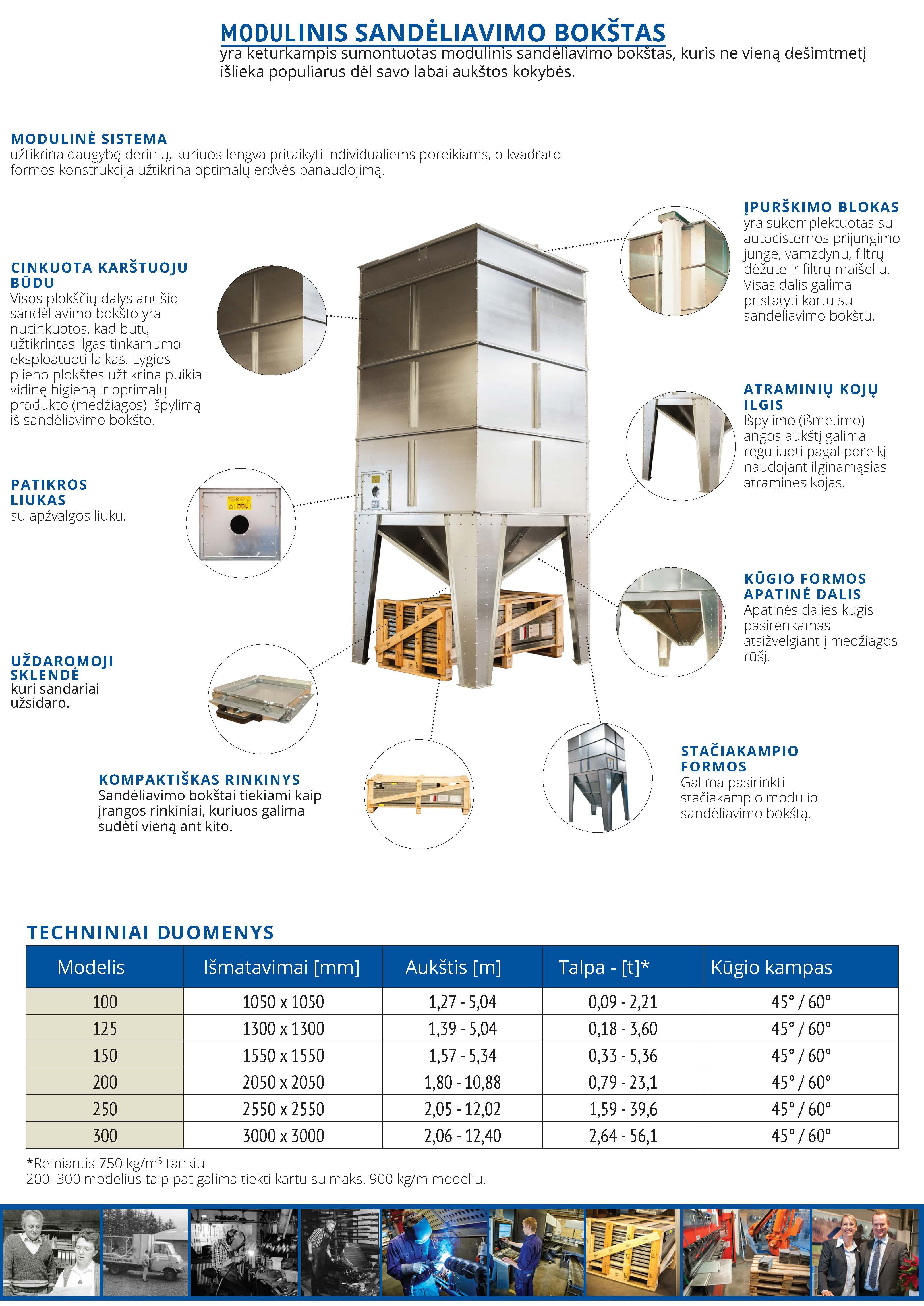 Modulinis bokštas techniniai duomenys