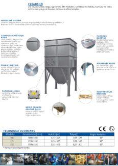 CLEAN SILO C-100, C-125, C-150 Techniniai duomenys