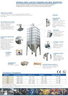 Modulinis lauko sandėliavimo bokštas techniniai duomenys