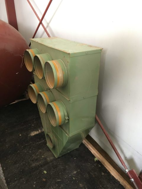 Maišinių filtrų prijungimo blokas