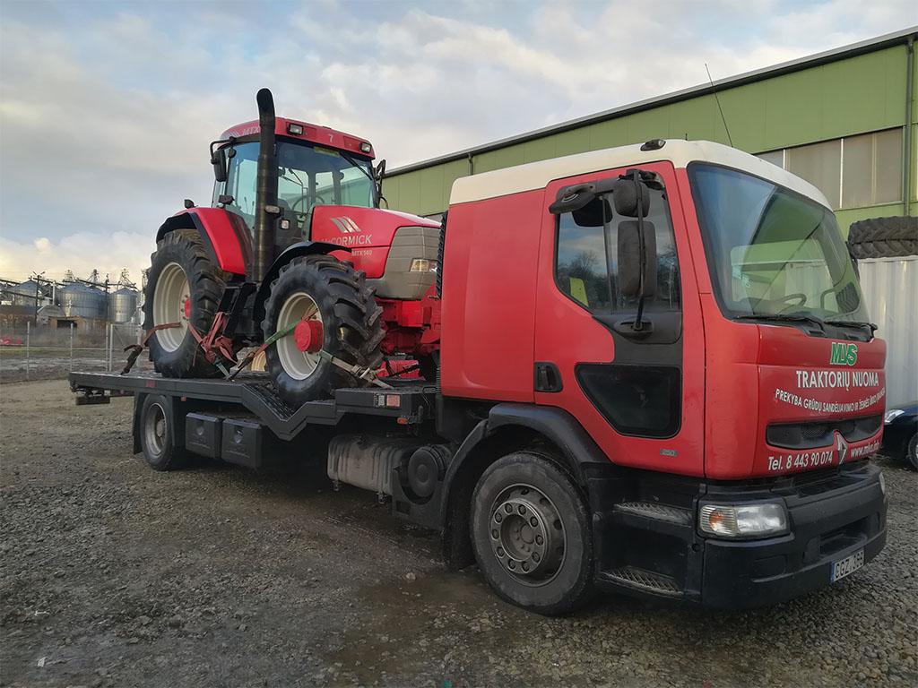 Traktorių nuoma su pristatymu