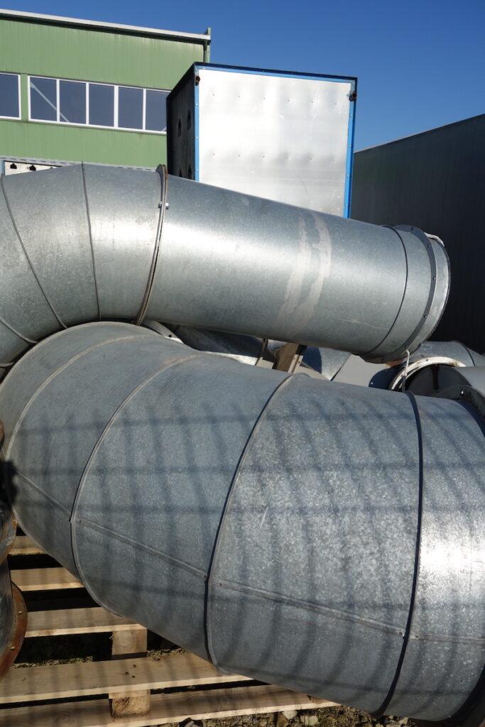 Vokiški ventiliatoriai, ciklonai ir vamzdynai