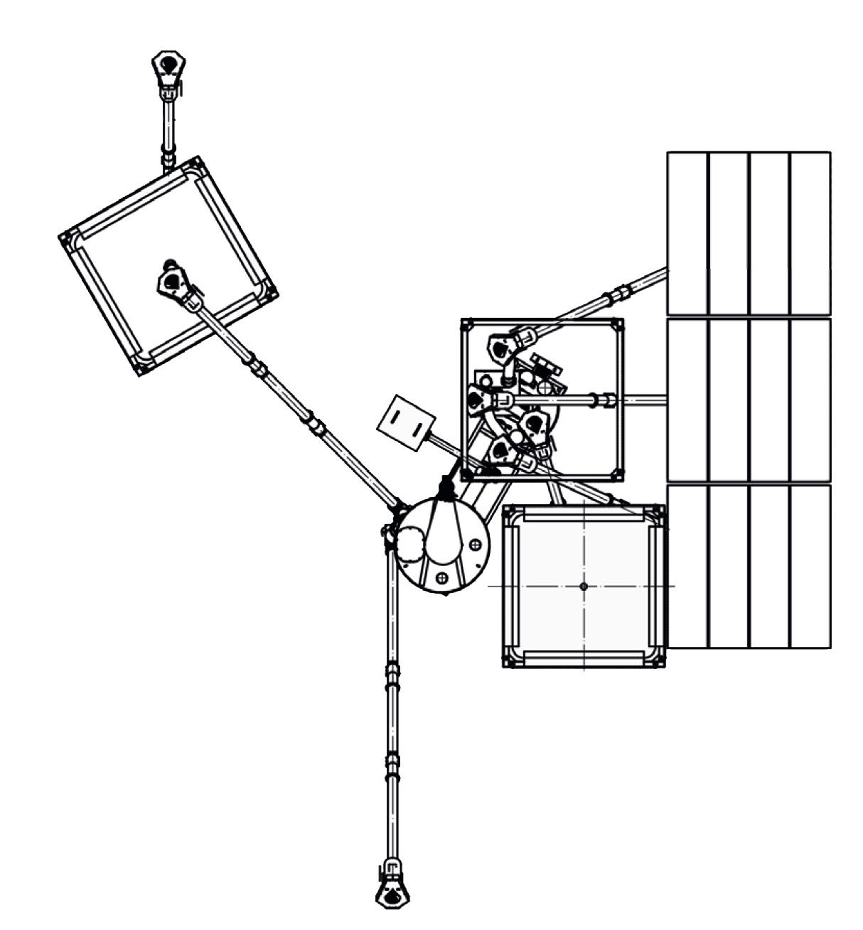 Kombinuotųjų pašarų gamybos linija su kompaktišku pašarų maišytuvu brėžinys