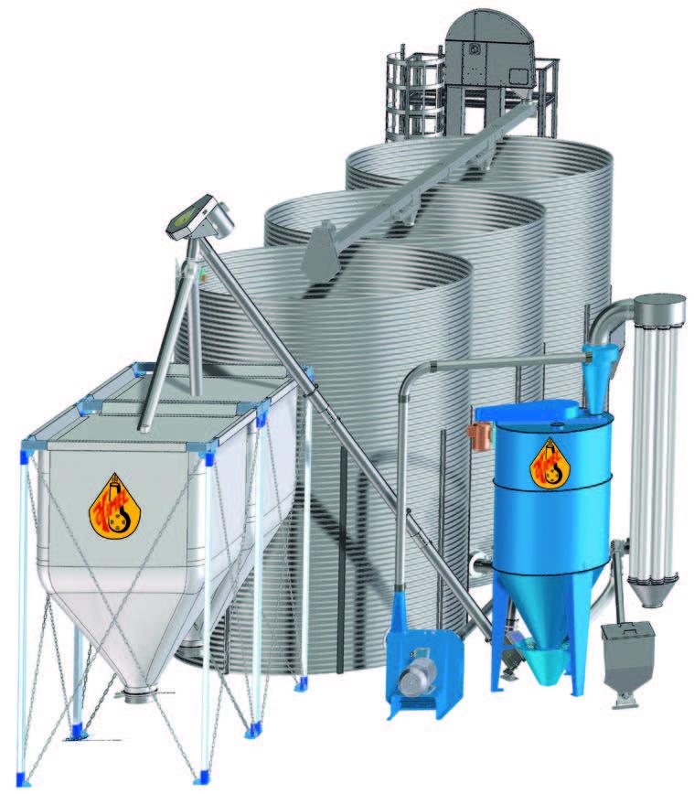 Kombinuotųjų pašarų gamybos linija su pneumatine grūdų smulkinimo mašina HIMEL