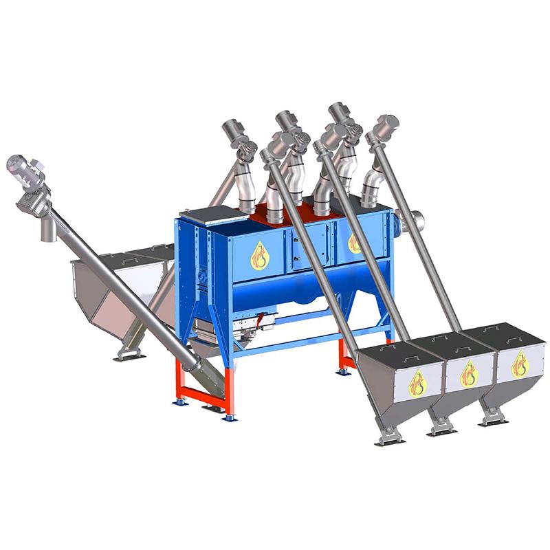 Kompaktiška kombinuotųjų pašarų gamybos linija su dozavimo funkcija